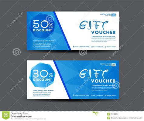 ticket voucher template blue discount voucher template coupon design ticket