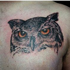 owl tattoo orange eyes realistic owl tattoo owl tattoos and tattoo owl on