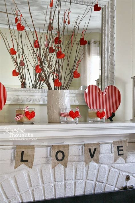 valentines day decorating diy home decor mantel