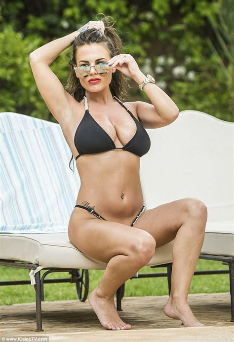 bedroom bikini chantelle connelly wears tiny black bikin after confirming