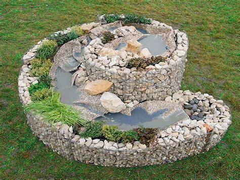 Bachlauf Aus Stein by Kr 228 Uterspirale Gabione Gabionen Gartendekoration
