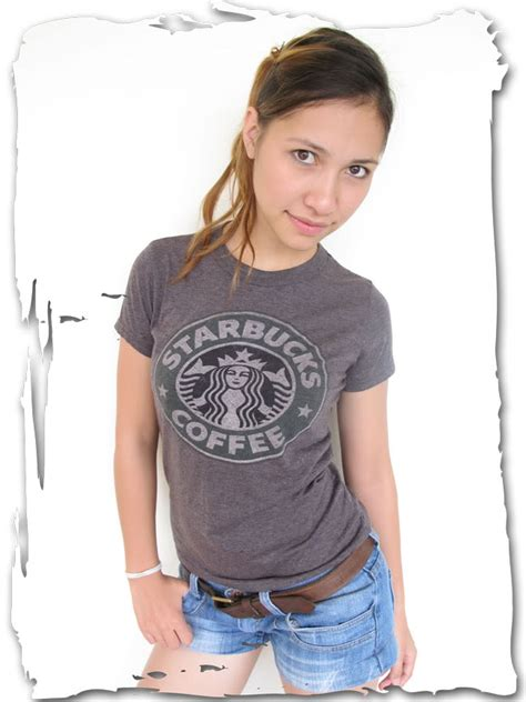 Shirt Import 7588 Retro starbucks coffee vintage t shirt xs s m l top various colours vari colori ebay