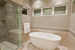 Bathroom With Bath And Shower Synergy Master Bath Shower Tub Modern Bathroom