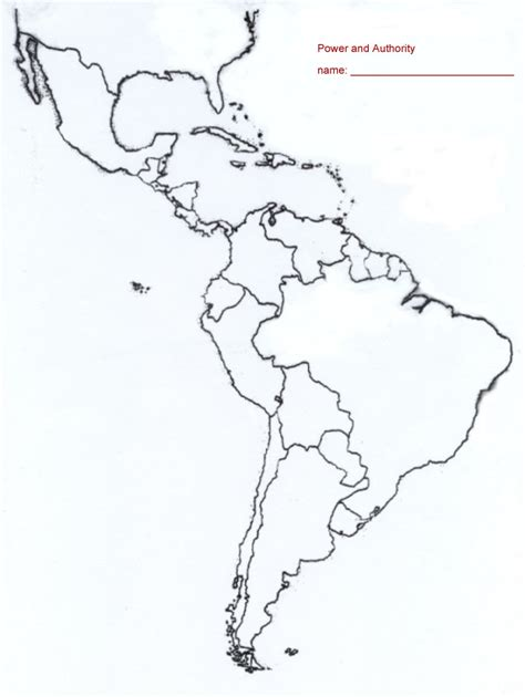 printable map of central america and south america worksheets a blank map of central and south america