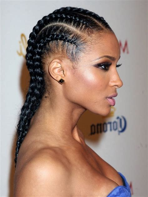 Black Hairstyles 2015 With Braids To The Side | black braids hairstyles 2015