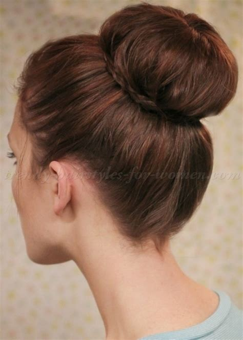 top bun hairstyles   sock bun hairstyle   trendy