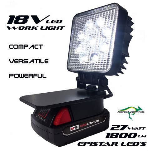 milwaukee m18 led work light m18 milwaukee adapt led light work light flood light spot