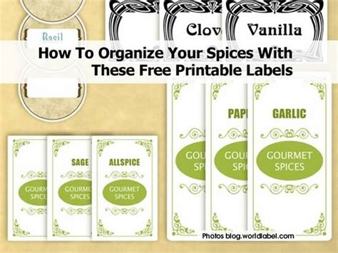 spice jar label templates how to organize your spices with these free printable labels