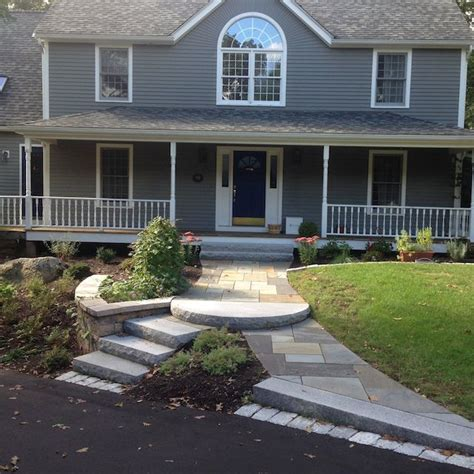 curved sidewalk in front of side entry garage love it design capabilities natural path landscaping