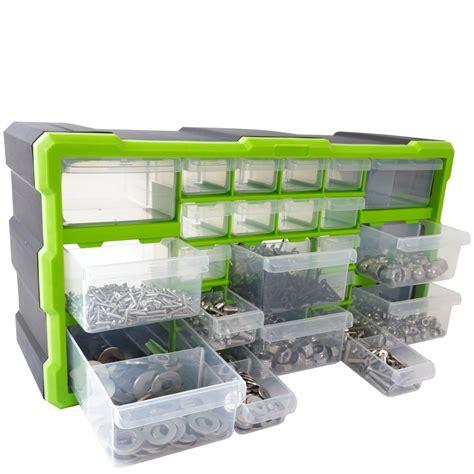 Organizer 2 In 1 Multifunction Box Marun 1 Set Cs dihl 22 multi drawer parts storage cabinet unit organiser home garage tool box ebay