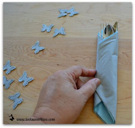 How To Fold A Paper Napkin With Silverware - how to make paper napkins special toot sweet 4 two
