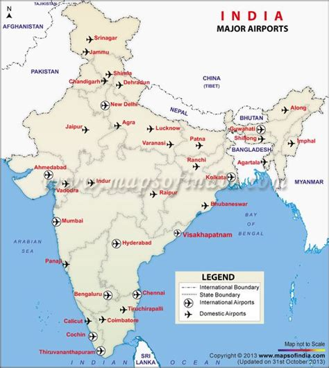 map of major us airports airports india and maps on