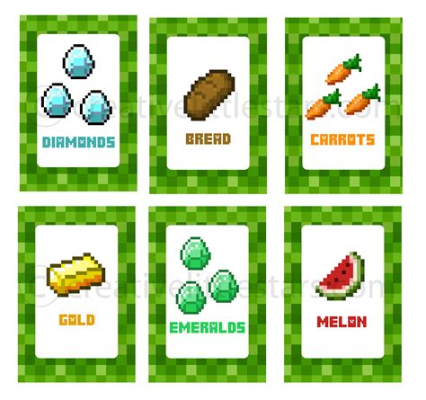 printable minecraft label printable minecraft food labels creative little parties