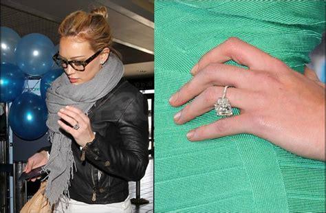 hilary duff engagement ring onewed