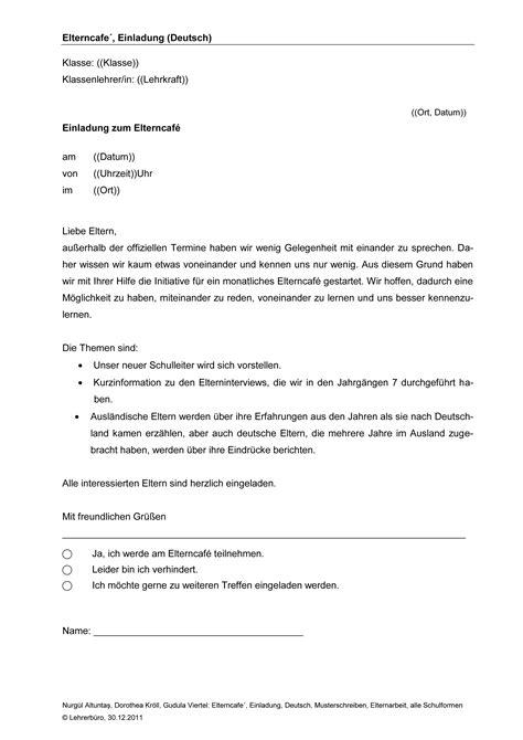 Musterbrief Grundschule Elternarbeit 183 Arbeitshilfen 183 Grundschule 183 Lehrerb 252 Ro