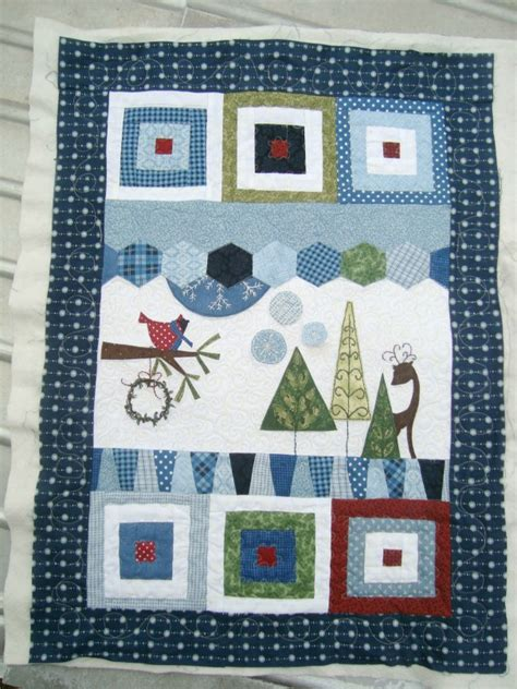 Winter Quilts wonky winter quilt for someone else