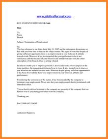 Termination Letter Format Notice Period 11 Employment Termination Notice Sle Notice Letter