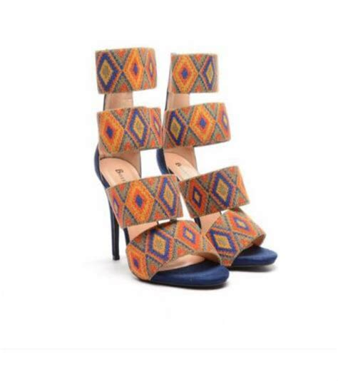 Aztec Pattern Heels | shoes tribal pattern tribal pattern strappy heels