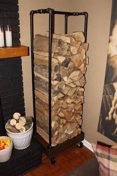 diy firewood rack pipe plumbing pipe wood rack diy