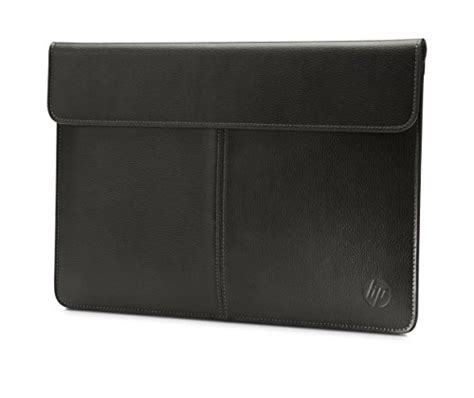 Import Bag 014 Black Brown hp 13 inch laptop leather sleeve black import it all