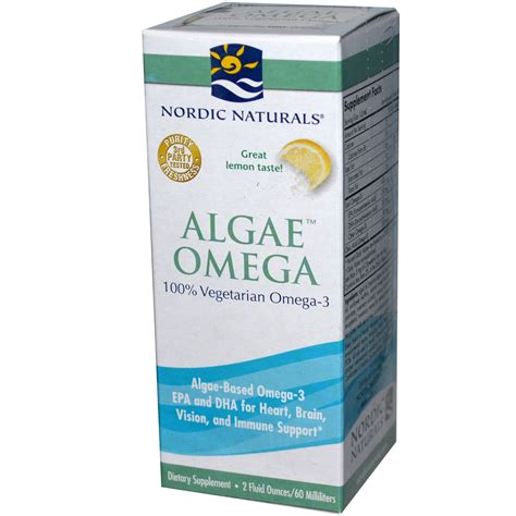 Algae Pills For Detox by Nordic Naturals Algae Omega Lemon 2 Fl Oz 60 Ml