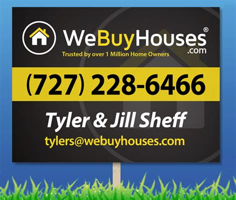 i buy houses signs yard signs we buy houses marketing portal