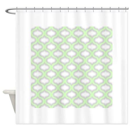 Favorite Designer Mint by Mint Green And Grey Ogee Shower Curtain By Admin Cp8246890