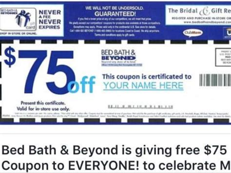 bed bath and beyond lawrence bed bath and beyond calls coupon a fake story