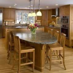 Stationary Kitchen Island With Seating 1000 Images About Kitchen Islands With Attached Tables On