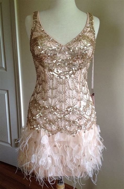 sue wong gatsby blush sequin beaded feather bridal evening