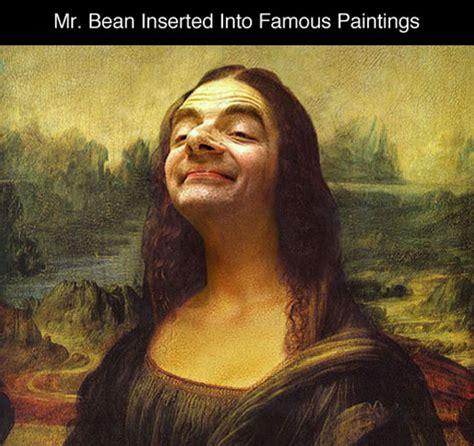 photoshopping  bean  famous paintings barnorama