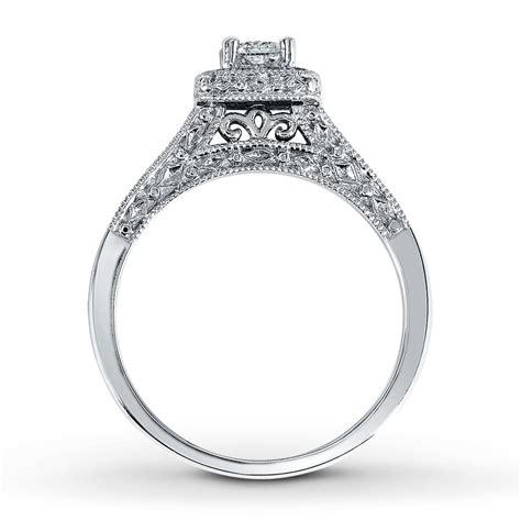 engagement ring 1 2 ct tw princess cut 14k