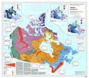 map of major rivers in canada current canadian river conditions ccin