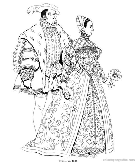 renaissance dress coloring page renaissance costumes and clothing coloring pages 32