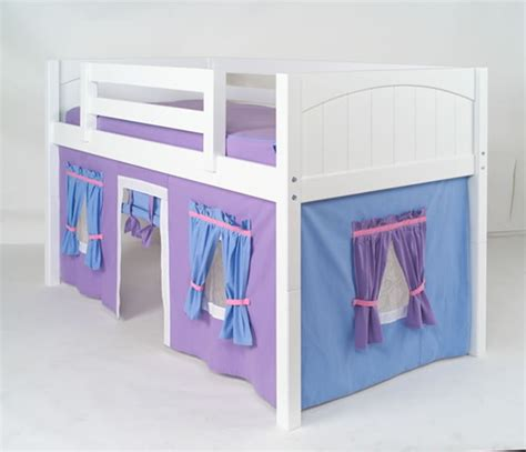 purple bunk bed maxtrix purple light blue curtain for low loft and bunk bed