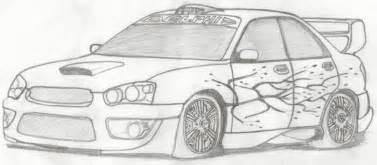 Subaru Drawing Subaru Wrx Sti By Hypothraxer On Deviantart