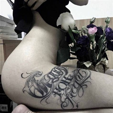 chicano font tattoo on hip best tattoo ideas gallery