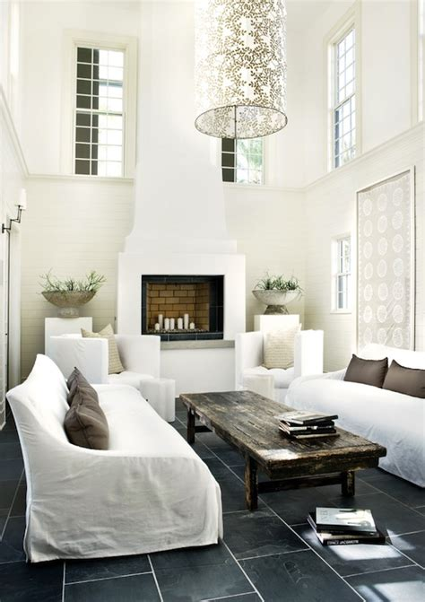 decorating with white two story living room design ideas