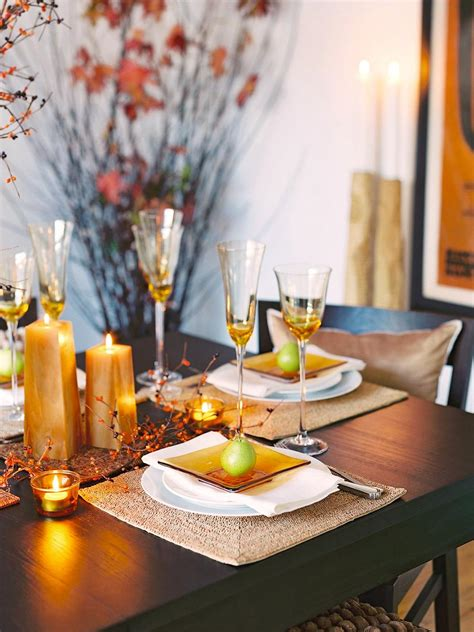 fall table settings ideas glittering fall table setting and centerpiece ideas hgtv