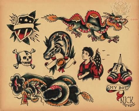 vintage tattoo designs school images designs