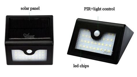 Surya Panel Cahaya Lu Malam 6 Led led terbuka surya powered cahaya pir motion sensor lu