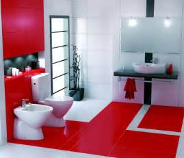 Red And White Bathroom Ideas by 39 Cool And Bold Red Bathroom Design Ideas Digsdigs