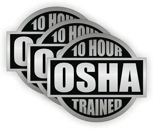Osha 10 Hat Stickers
