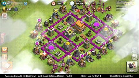 coc th6 best defense layout best town hall level 6 th6 base defense design layout