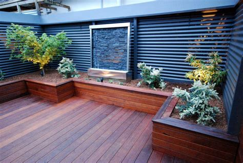 Backyard Ideas Australia 1000 Images About Garden Deck Landscaping On Railway Sleepers Retaining Walls