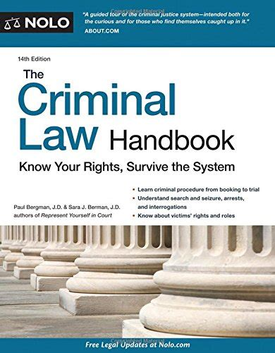 criminal handbook the your rights survive the system books criminal handbook the your rights survive the