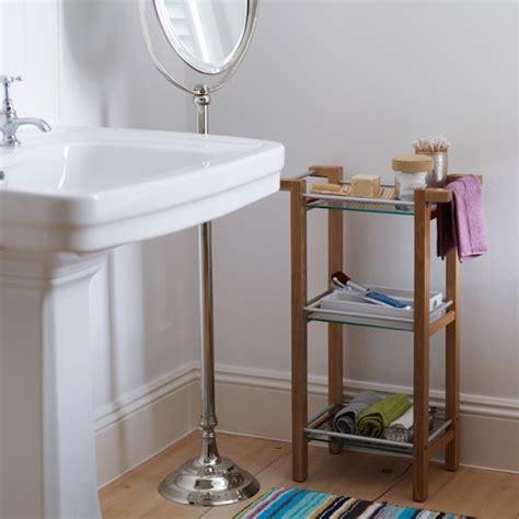 Free Standing Bathroom Storage Ideas family bathroom with freestanding storage modern