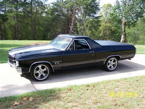 the black el camino 1972 el camino black