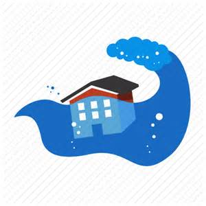 Disaster environment float flood nature water wave icon icon