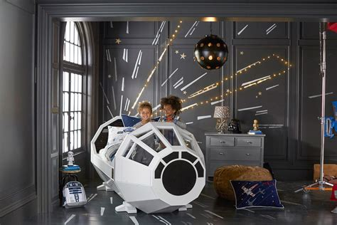 Millennium Falcon Bed by Pottery Barn Wars Collection Preview Starwars